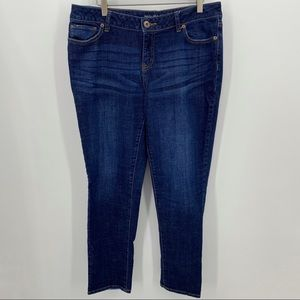Maurices Skinny Jeans Distressed Stretchy Sz 13/14